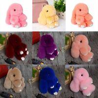 AME Rex Rabbit Fur Cute Bunny Pom Ball Doll Toy Keychain Handbag Pendant Decor