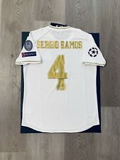 Sergio Ramos Soccer Jersey Player Version Real Madrid Home 19/20 XL