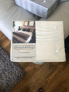 1000TC Super King Egyptian Cotton Fitted & Flat Sheet & 2 Pillowcase 4PCS Black