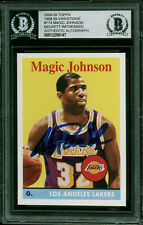 Lakers Magic Johnson Signed 2008 Topps 58-59 Var #174 Card BAS Slabbed #12256147