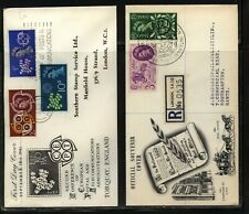 Great Britain 2 cachet covers Ms0305