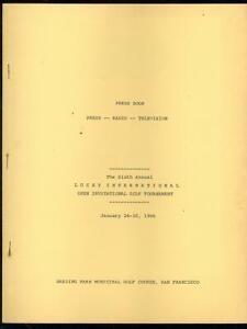 Lucky International Open Golf Tournament Press Book January 24 1966