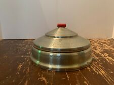 Vintage Art Deco Metal Trinket Box with Divided Glass Insert