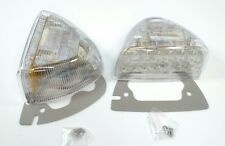 Pair Amber LED Side Turn Signals w/ Clear Lenses for Peterbilt 379 378 Headlight