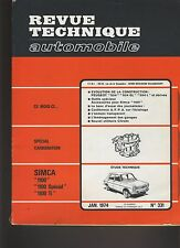 (C6)REVUE TECHNIQUE AUTOMOBILE  SIMCA 1100 / PEUGEOT 504
