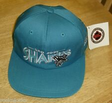 San Jose Sharks hat 90's Vintage Snapbackcap NEW WITH TAGS Mint RaRe DS NHL