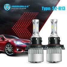 2x 3-sided H13 9008 LED Bulb Headlight HID Kit 2000W 300000lm 6500k AUTO PARTS