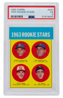 1963 Pete Rose Topps #537 Rookie Baseball Card PSA EX 5