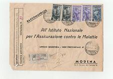 STORIA POSTALE TRIESTE 5 VALORI SU RACCOMANDATA TRIESTE 10/12 Z/3613