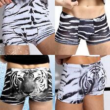 Men's Sexy underwear Tiger Low waist Ice Silk Briefs Boxers shorts underpants