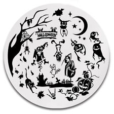 Stamping Schablone Stempel Platte Halloween Spider Skull Ghost Y008