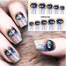 Nail Art Decals Water Transfers Stickers Big Eye Paint Splash GEL Polish