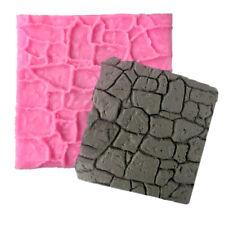 NEW Stripe Lace Fondant Cake Toppers Decoration Chocolate Stone Bark Baking Tool