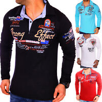 Herren Sweatshirt Hoodie Longsleeve Langarm Shirt Vintage T-Shirt M L XL Polo