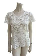 Gerard Darel White Lace Blouse Top Ladies Size F 44 L large