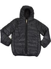 Kids Soul Star Hester Hood Packaway Down Effect Puffa Jacket Boys Coat Black 9-10 Years