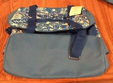 Fabric Insulated Blue /white Flower Design Cooler with A matching tote bag
