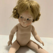 """Porcelain doll baby Germany 310 AOM 13"""" blond hair and eyes bisque"""