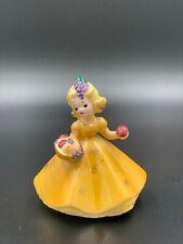 Vintage Josef Originals November Birthday Girl Figurine w/ Fruit Basket