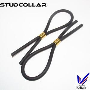 Studcollar Flex Gold - Paquet Double - Fort & Extensible Caoutchouc Anneaux /