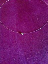 Collier Fil De Nylon Perle Strass Cristal Swarovski 3,3 mm Finition Argent 925