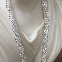 """King Byzantine Chunky Maille Chain Necklace 925 Sterling Silver 4.5mm 33GR 20"""""""