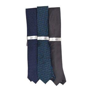 Alfani Mens Lot Of 3 Tie Necktie Multicolor Geometric Textured Tied One Size New