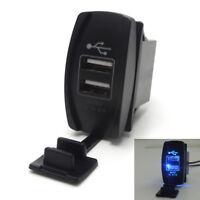 12V Car Dual USB Socket Switch Charger for UTV Can Am Polaris Ranger RZR XP 1000