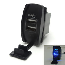 Dual Blue USB Socket Charger for UTV Can Am Polaris RZR Ranger 900 1000 XP 4 750