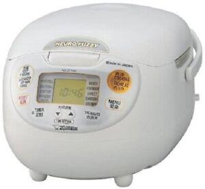 ZOJIRUSHI Electronic rice cooker NS-ZLH10-WZ PREMIUM WHITE 220-230V NEW