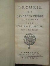 VIARD : RECUEIL DE PIECES CURIEUSES (Barcelone/Espagne/Allemagne/Le Châtre) 1664