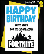 Buy fathers day greeting cards ebay happy birthday greeting card playing fortnite game dad brother son uncle c988 m4hsunfo