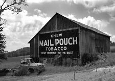 MAIL POUCH BARN w/1959 International Harvester B-160 Oakland MD 5x7 Photo Print