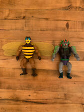 Vintage He-Man Action Figures RARE - Snake Face and Buzz Off