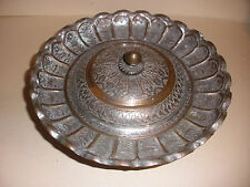 """APPRX 10"""" NICE VINTAGE ANTIQUE PERSIAN COVERED BOWL DISH WITH LID DECORATED"""