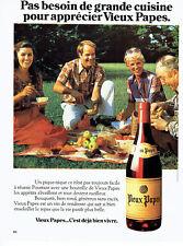 Publicité Advertising 117  1980  vin de table Vieux Papes