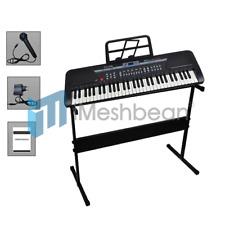 Black 61 Key Music Keyboard Electric Digital Piano Organ with Keyboard stand