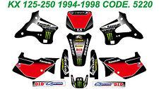 5220 KAWASAKI KX 125-250 1994-1998 94-98 DECALS STICKERS GRAPHICS KIT