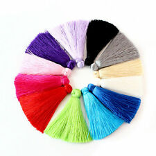 12pcs/lot Mix Colors 60MM Soft Silk Satin Tassels For DIY Jewelry Making Finding