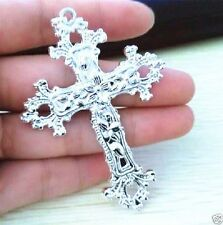 925 Sterling Silver Christian Jesus Christ Cross Catholic Crucifix Pendant