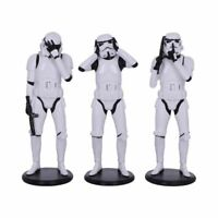 Officially Licensed Star Wars 14cm 3 Three Wise Stormtroopers See No Evil Gift