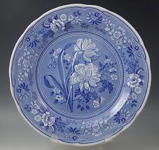 "SPODE BLUE ROOM 10.5"" BOTANICAL PLATE -BLUE WHITE MADE IN ENGLAND"