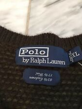 NWT Polo Ralph Lauren 83% Cashmere (100%) 17% Wool V-Neck Sweater XL Extra Large
