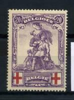 Belgio 1914 Mi. 106 Nuovo * 100% Croce rossa 20 C