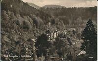 """Ansichtskarte Bad Schandau - """"Bad-Allee"""" Landschaft, Natur - schwarz/weiß"""