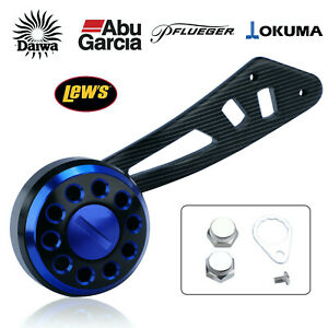 Daiwa Abu Garcia Lew's Okuma Pflueger reel aluminum power handle knob 94mm BLUE