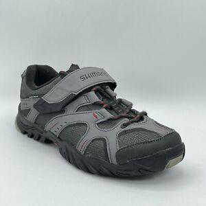 Shimano Mens SH-MT43G Gray Leather 2 Bolt Mountain Bike Cycling Shoes Size 8.5