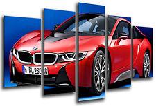 Quadri Moderno Auto Sportivo, BMW i8, Rosso, Rif. 26556