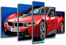 Cuadro Moderno Coche Deportivo, BMW i8, Rojo, ref. 26556
