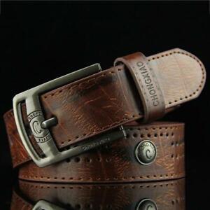 Waistband Strap Pu Leather Casual Buckle Formal Belt Fashion Men N3